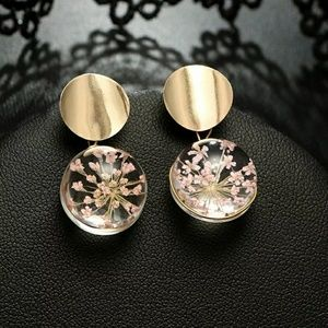 2 for $26 Transparent Ball Flower Inside Earring